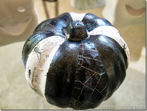 Black and White Pumpkin