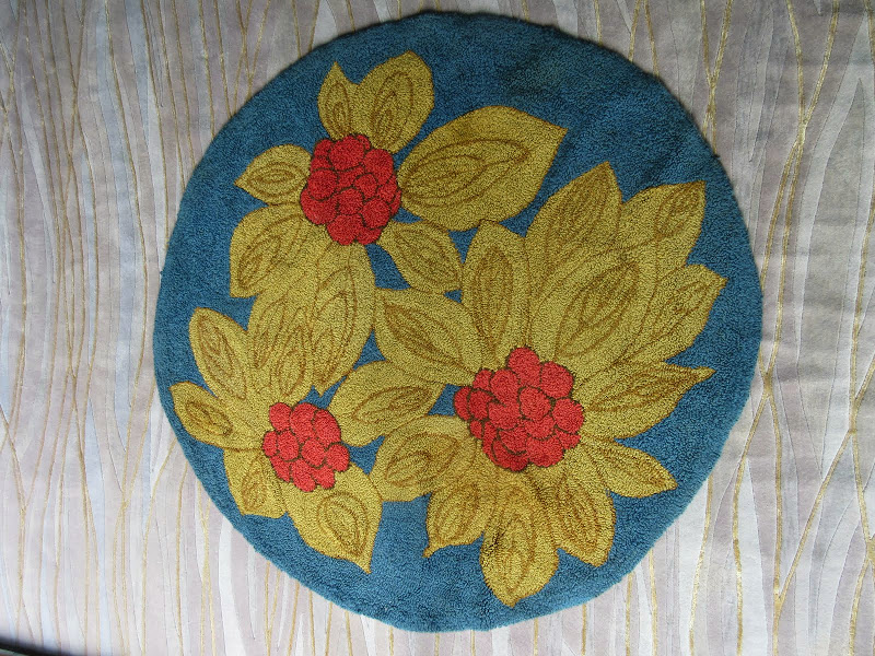 Floral Knotted Rug