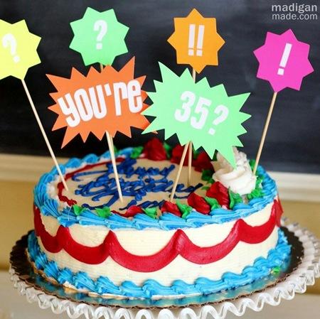 diy neon cake topper craft