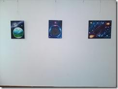 Picturi cosmice la expozitie in Herastrau galeria AAP