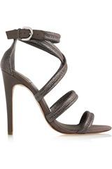 Camilla Skovgaard Metallic suede multi-strap sandals