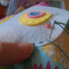 softies for sisters - hand sewing eyes