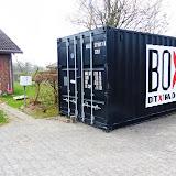 Containeren som det meste af indboet er opmagasineret i