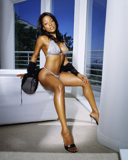 kellita smith string bbikini jpg kellita in blue bikini and black