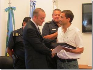 Juan Pablo de Jesús en entrega de distinción a efectivos policiales