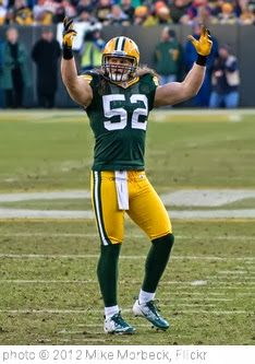 'Clay Matthews' photo (c) 2012, Mike Morbeck - license: http://creativecommons.org/licenses/by-sa/2.0/
