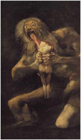 Saturno devorando a sus hijos, Francisco de Goya