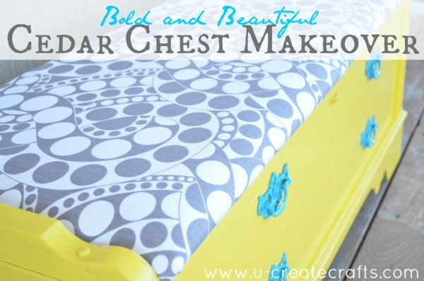 DIY Cedar Chest Makeover at u-createcrafts.com