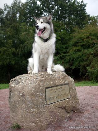 Munson on Offa's Dyke starting stone (3)