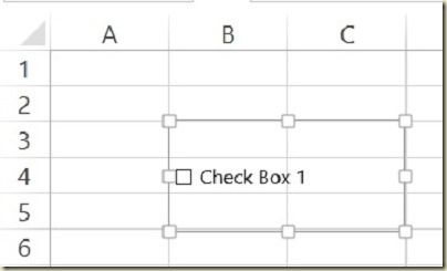 Form Controls in Excel - Create Check Box
