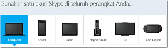 Satu akun Skype di seluruh perangkat Anda