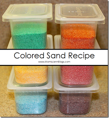 Colored Sand Recipe