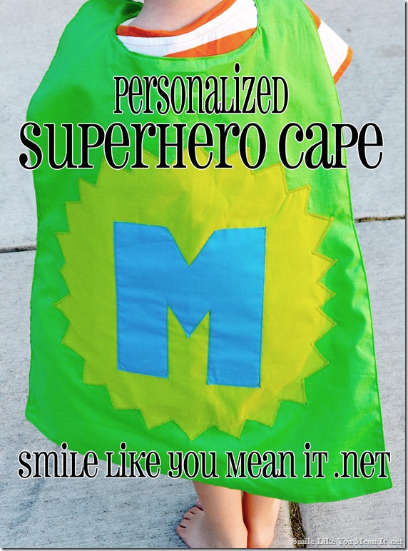 Tutorial- Personalized Superhero Cape 2