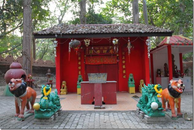 Chinese Temple at Chiang Saen, Thailand