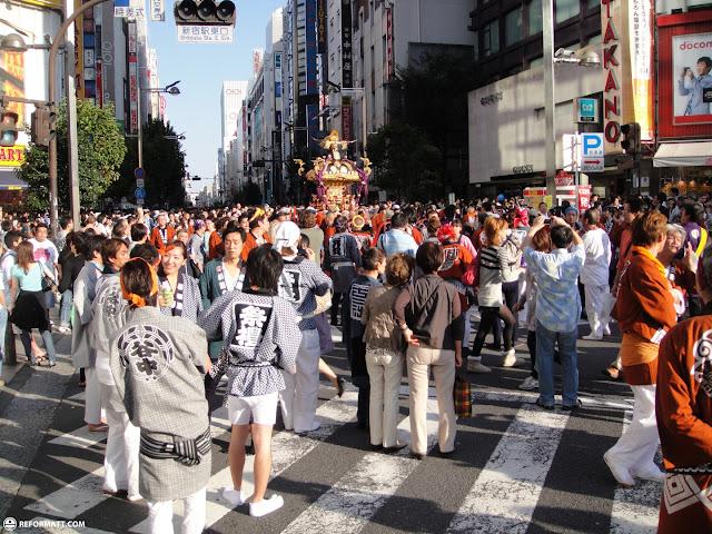 shinjuku hanazono shrine grand festival in Kabukicho, Tokyo, Japan