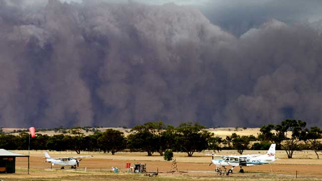 A freak storm wrought damage in the small Western Australia town of Karlgarin, 15 January 2013. AAP
