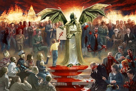 mcnaughton-fine-art-one-nation-under-god-parody-jesus-cthulhu-blood-monsters