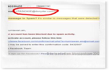 Email spam mengatasnamakan facebook dan paypal