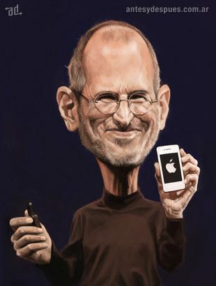 La caricatura de Steve Jobs