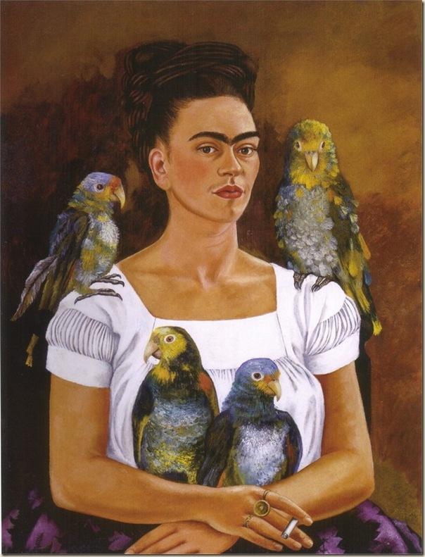Frida Khalo, Autoportrait aux perroquets