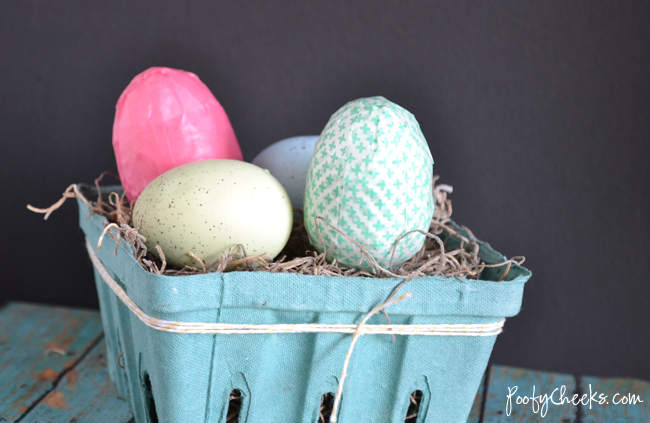 Super Easy Washi Tape Easter Eggs