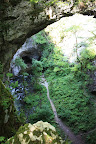 The view into the cave from the Small natural bridge