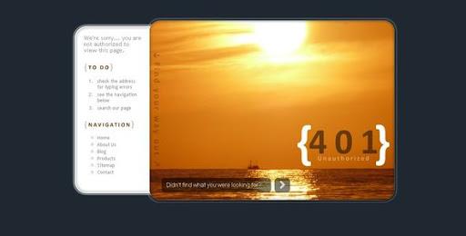 Premium 404 Html Templates Sunset Error Pages 401 403 404 500 503