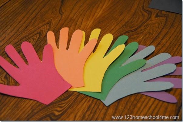 rainbow hand art