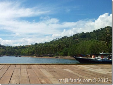 The quick view of Lombok from the dock