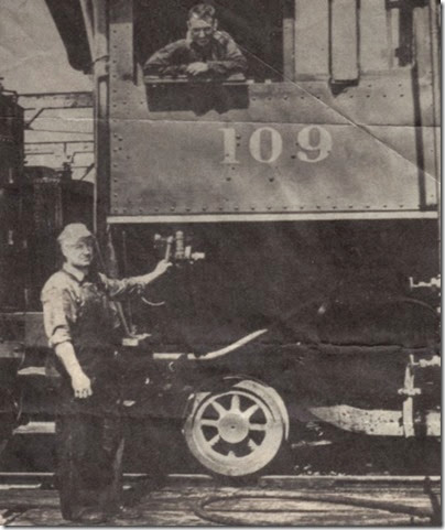1930s Logging Railroad Locomotive & Crew