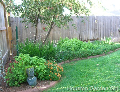 This Is The First Garden You See When You Enter The Backyard From The  Driveway. The Lady Head Watches Contently From Her Corner Here.