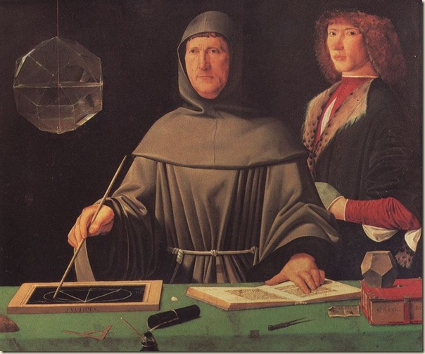 Jacopo di Barbera, Portrait de Luca Pacioli et de son élève