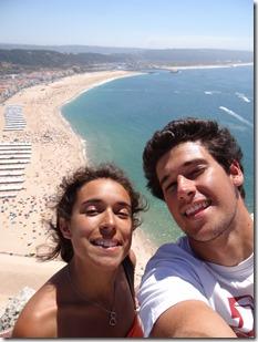 Vue vraiment vertigineuse sur la plage sud touristique, c'est très haut !