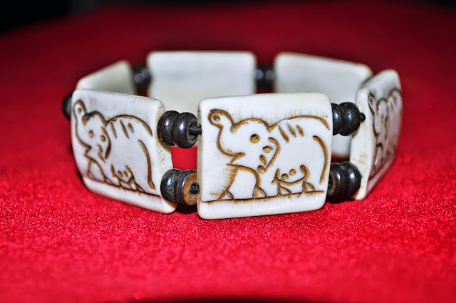 Elephant Design Bone Bracelets