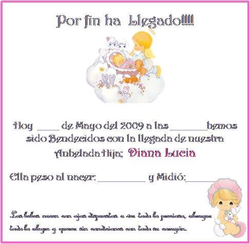 Tarjetitas para souvenir de bebés - Imagui