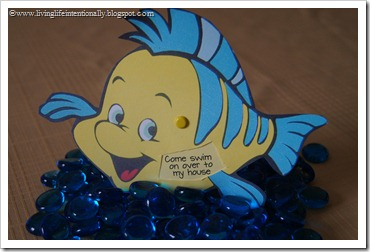fish birthday party invitation
