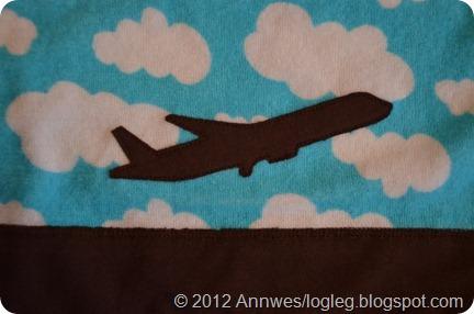 Flyapplikasjon på genser