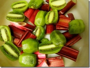 ruhbarb and kiwifruit