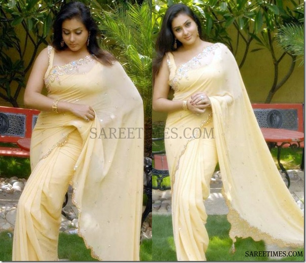 Namitha_Cream_Designer_Saree
