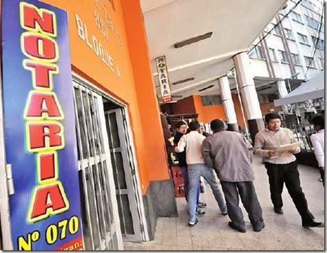 Funciones de los Notarios en Bolivia