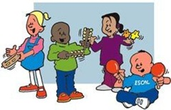 Cartoon-children-playing-music