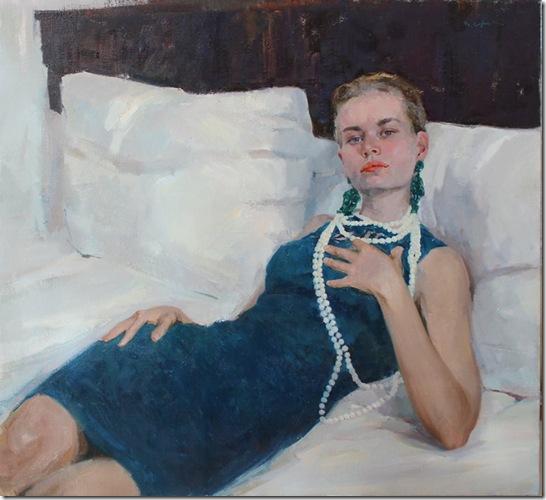 Portrait of Julia-Vadim-Suvorov-ENKAUSTIKOS