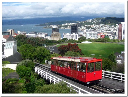 Wellington's famous cable car which helped to establish Kelburn and Karori.