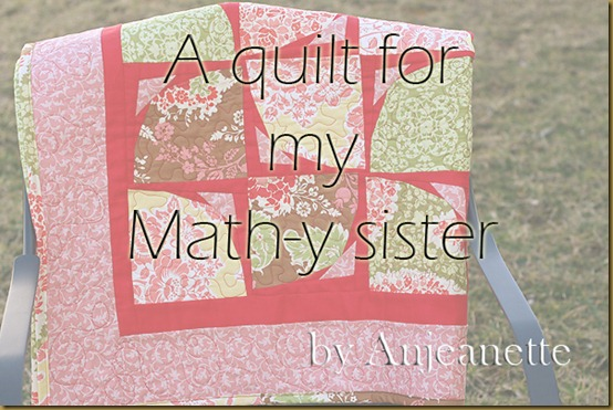 1 a quilt for my math-y sister