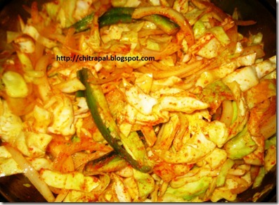 Chitra Pal Fried Cabbage