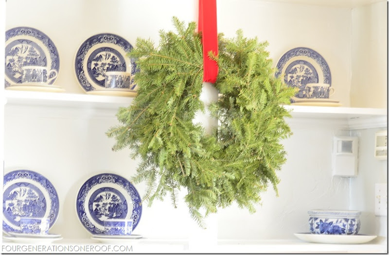 bookcase wreath