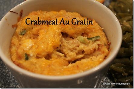 recipe for crabmeat au gratin
