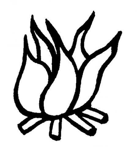 Dibujos de llamas de fuego para colorear - Imagui