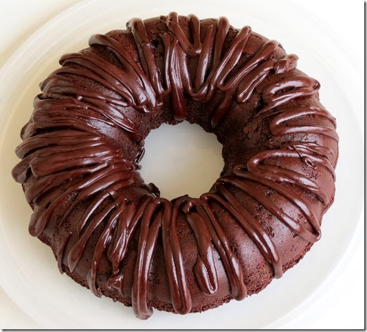 Grain Free, Refined Sugar Free Chocolate Bundt Cake 11-15-13