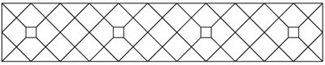 Diagonal Grid with Accent Tile